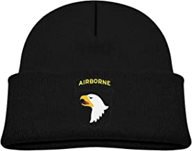 Xdinfong Army 101st Airborne Division Cotton Comfort Beanies Warm Knit Hat for Boys & Girls