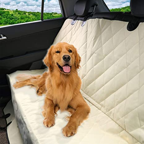 Pet Magasin Luxury Water-Resistant Pet Seat Cover & Scratch Proof Non-Slip Backing with Hammock Style for Cars & SUVs: image