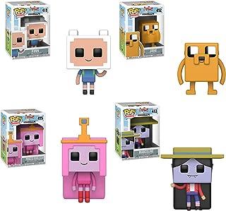 Funko Pop! Television - Adventure Time Minecraft Bundle of 4: Finn, Jake, Marceline and Princess Bubblegum