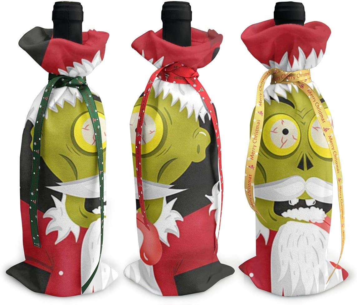 Black Terror Christmas Green Santa3Pcs Max 84% OFF Red 55% OFF Xmas Zombie