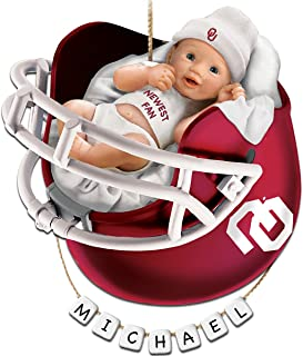 The Bradford Exchange University of Oklahoma Sooners Personalized Baby's First Christmas Ornament