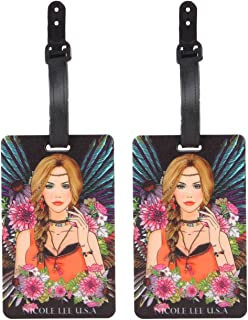Nicole Lee Women's 2 Piece Luggage Bag Travel Tags