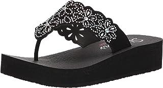 Skechers Cali Women's Vinyasa-Pretty Thang Flip-Flop, Black, 5