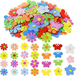 218 Pcs Flowers and Butterfly Shapes Foam Stickers, jiebor Flower Stickers ButterflyStickers FoamDecorations forCrafts ...