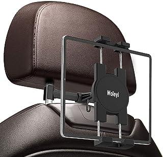 車載ヘッドレストタブレットホルダー woleyi カー後部座席取り付け 携帯電話/タブレット用スタンド 伸縮可アーム 安定性良い 対応機種4-12.9インチデバイス iPad Pro 11 10.5 9.7 / Air Mini 5 4 3 2...