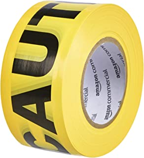 AmazonCommercial Caution Tape, 3-inch by 1000-feet, Yellow, 16-Pack