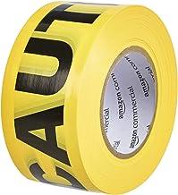AmazonCommercial - Nastro segnaletico, 7.62 cm x 304.8 m, colore: giallo, confezione da 2