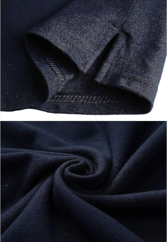 STTLZMC Poloshirt Herren Kurzarm Basic T-Shirt Freizeit Plaid splei/ßen Polohemd