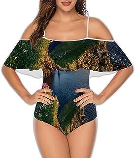 Xiriya Illinois,Women's One Piece Swimsuit RuffledUp Lake S