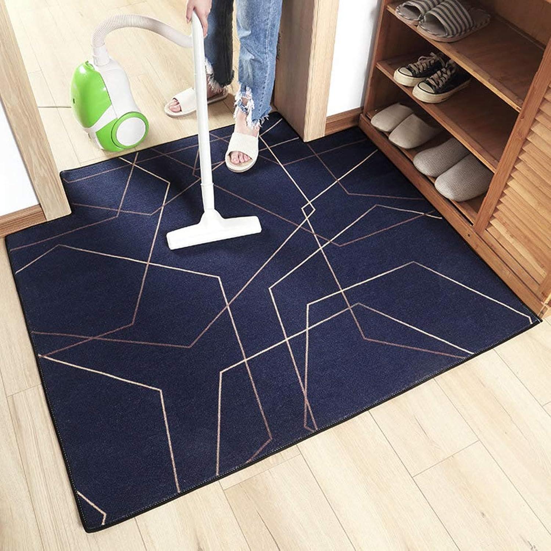 Entrance Rug,Door mat,Indoor mats Entrance Door mats Modern Area Rug Non-Slip Easy Clean-bluee 80x100cm(31x39inch)