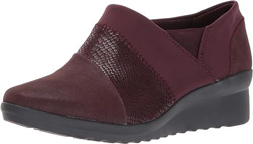 Clarks - Chaussure Caddell Denali Femme, 36 C D EUR, Burgundy