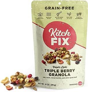 Gluten-Free, Low Sugar, Low Carb Granola by Kitchfix | Grain-Free | Paleo | Vegan Plant-Based Protein | Triple Berry 10oz
