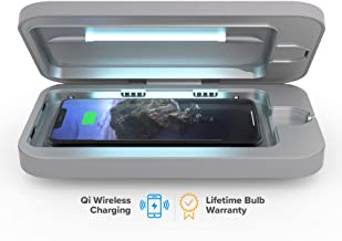 PhoneSoap Wireless UV Smartphone Sanitizer & Qi Charger | Patented & Clinically Proven UV Light Disinfector | (Gunmetal Gray)