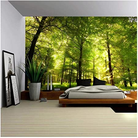 Wall26 Crowded Forest Mural Wall Mural Removable Sticker Home Decor 100x144 Inches Amazon Com