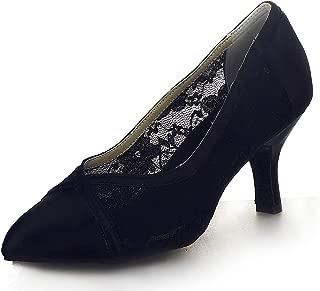 JIAJIA 6241 Women's Satin Sandals Flared Heel Latin Salsa Performance Dance Shoes
