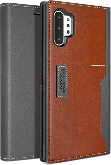 ,Cover Case for Samsung Galaxy Note 10 Plus 3 Card Slots Red Magnetic Closure Copmob Samsung Galaxy Note 10 Plus Phone Case,Premium Flip Leather Wallet Case, Kickstand Function