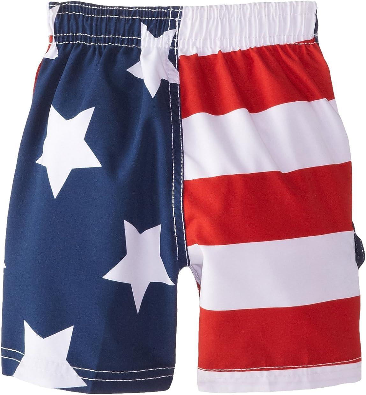 Kanu Surf Boys' American Flag Swim Trunk