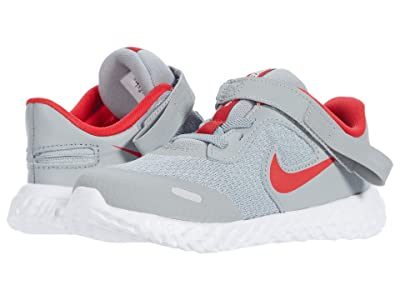 Nike Kids Flyease Revolution 5 (Infant/Toddler) (Light Smoke Grey/University Red) Kid