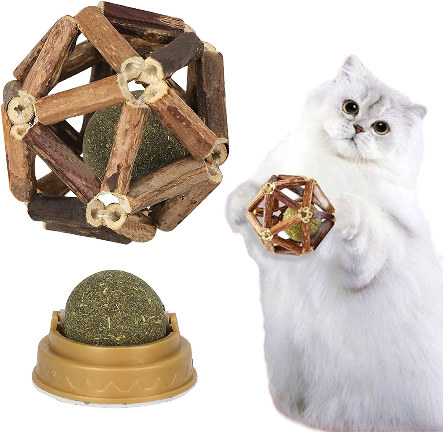 Petoss Catnip New products, world's highest quality popular! Toys-2Pcs Natural Stick Silvervine Deluxe BallNat
