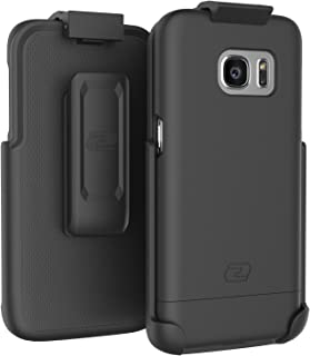 Samsung Galaxy S7 Case, Encased Ultra-Thin [SlimSHIELD] Case & Belt Clip Holster for Samsung Galaxy S7 (2016) Ultimate Style + Protection (Smooth Black)