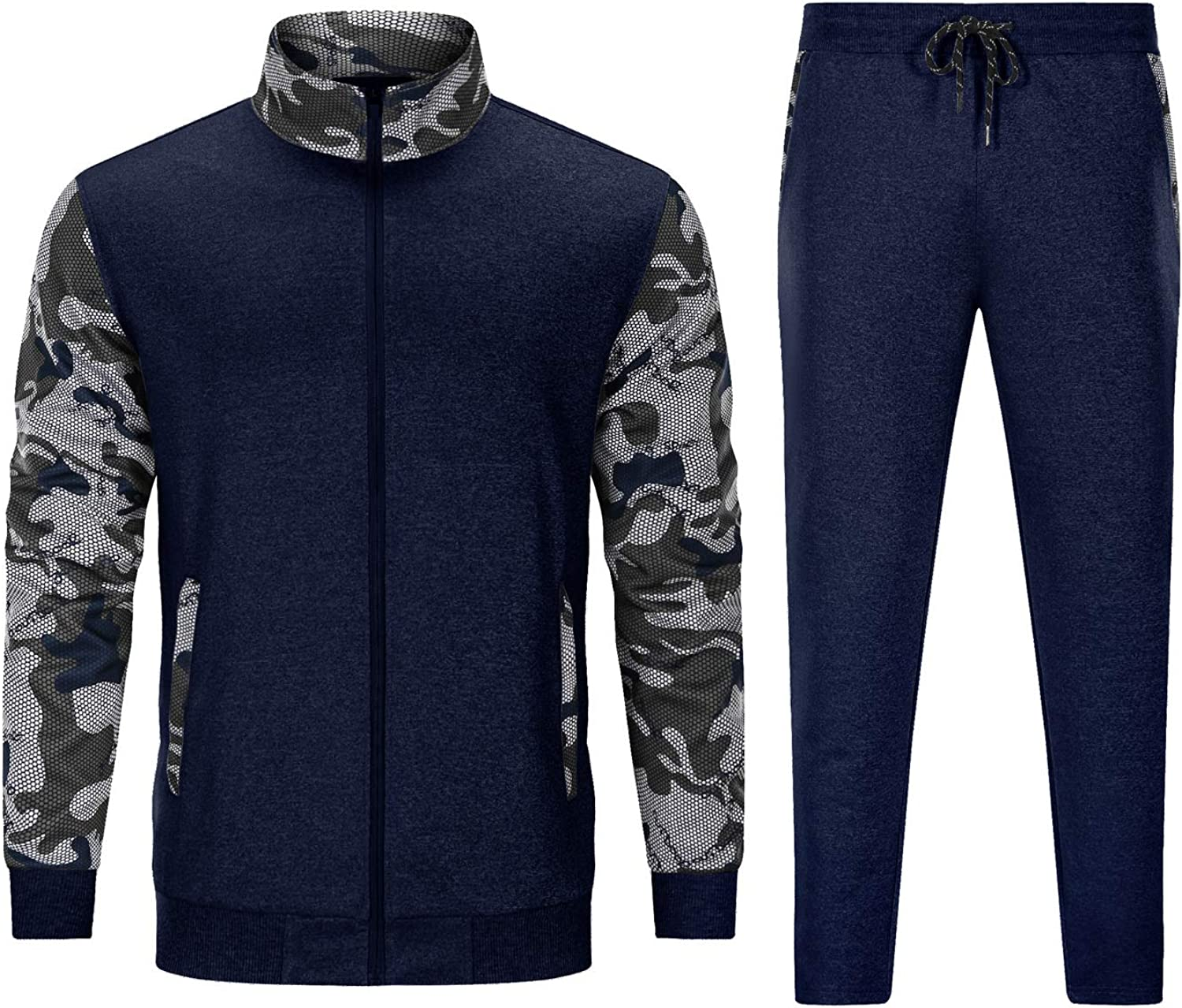 TACVASEN Men's Casual Tracksuit Full Directly managed store Jack Gorgeous Sleeve Sports Zip Long