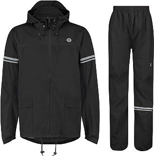 AGU Essential oryginalny strój przeciwdeszczowy, odzież przeciwdeszczowa, dla mężczyzn i kobiet, wodoszczelny i wiatroszcz...