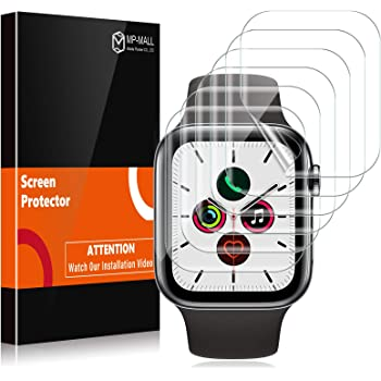 MP-MALL [6 Pack] Screen Protector Compatible with Apple Watch 42mm Series 3 2 1 44mm Series 4 5 Bubble-Free iWatch Flexible TPU Film