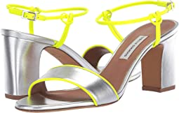 Silver Metallic Nappa/Yellow Fluo Calf