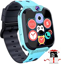 """Kids Game Smart Watch Phone - 1.54"""" Touch Screen Game Smartwatches with [1GB Micro SD Card] Call SOS Camera 7 Games Alarm Clock Music Player Record for Children Boys Girls Birthday Gifts 3-10 (Blue) …"""