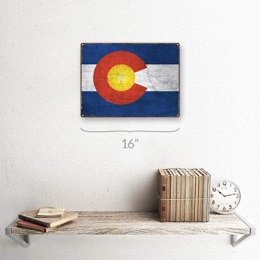 Colorado Metal Sign; Wall Decor for Home and Office