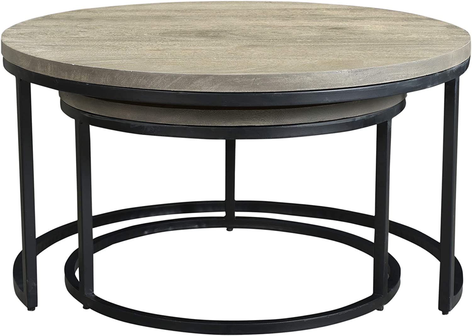 Moe's Home Collection Sale Drey Round Nesting of Coffee Table 2 Set Limited time cheap sale