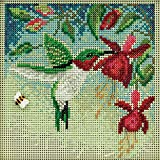 Hummingbird Beaded Counted Cross Stitch Kit Mill Hill Buttons & Beads 2011 Spring MH141104