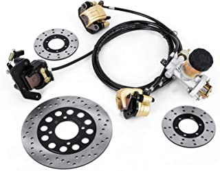 Mophorn GO-KART Brake Master Cylinder Kit Go Kart Hydraulic Brake Kit Universal Go Karts Brake Kit Kandi Complete Including Master Cylinder, Hose, Caliper, Pad