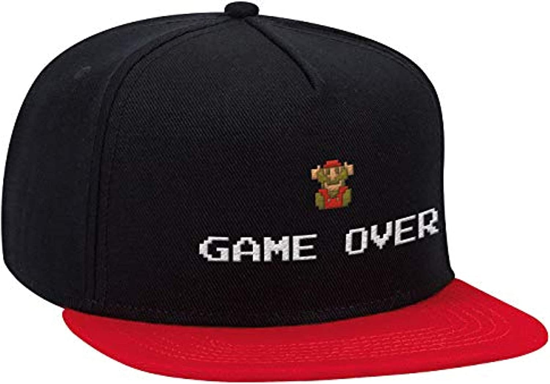 Super Mario Bros Sacramento Mall NEW before selling Black 8 Bit Hat- Over Game Brim Baseball