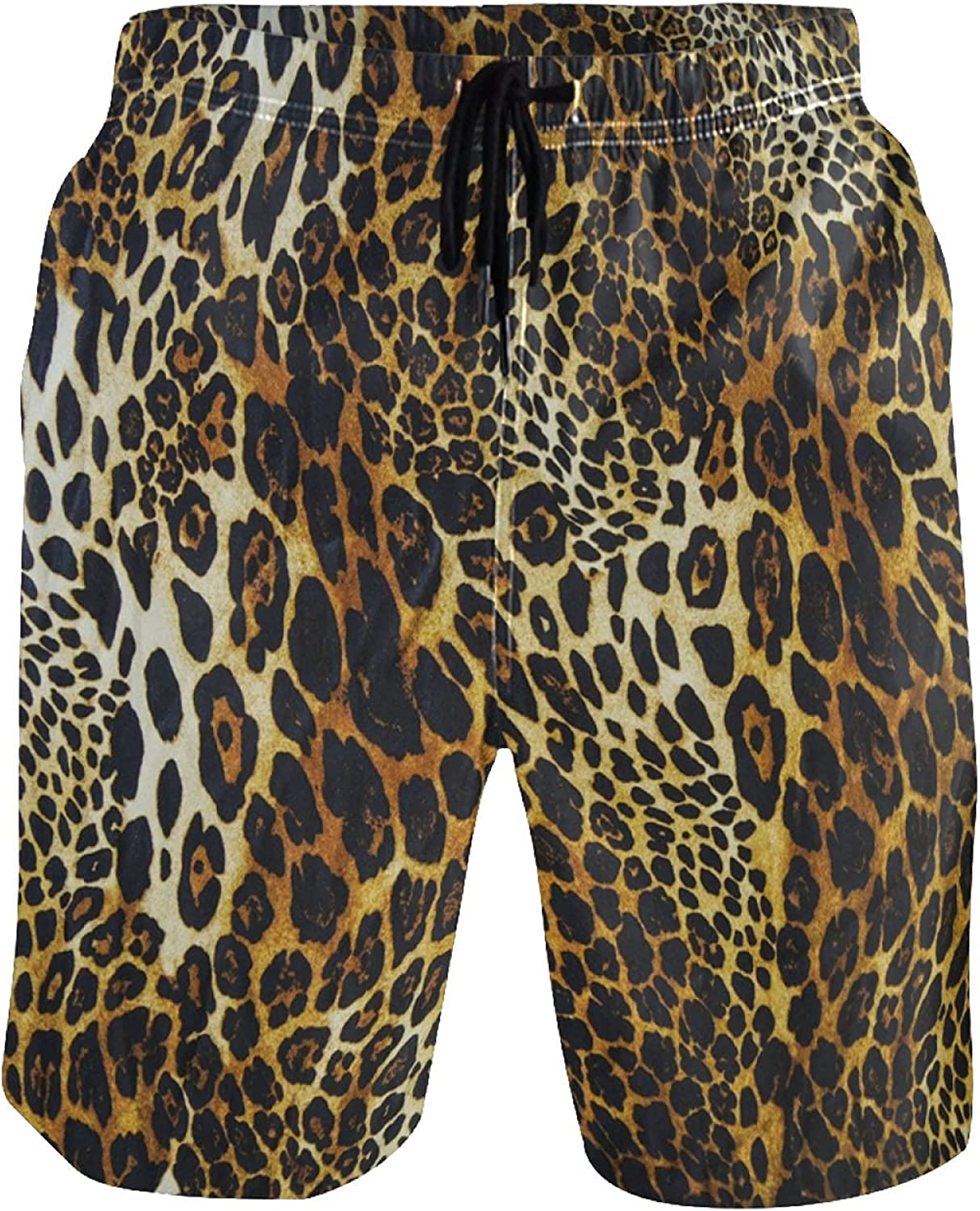 Spring Moon Clearance SALE Credence Limited time Colorful Leopard Men Shorts Board Beach and Pockets