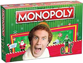 Monopoly Elf | Based on Christmas Comedy Film Elf | Collectible Monopoly Game Featuring Familiar Locations and Iconic Mome...