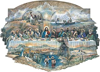 Bits and Pieces - 750 Piece Shaped Jigsaw Puzzle for Adults - The Last Supper - 750 pc Religious Jigsaw by Artist Ruane Manning