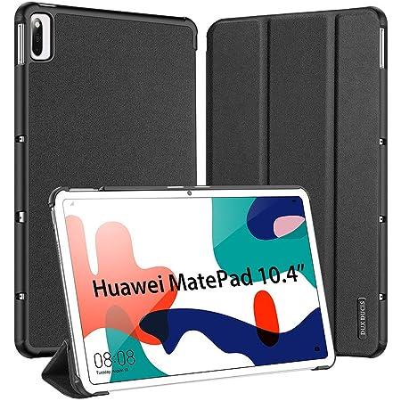 """Custodia Cover per Huawei MatePad 10.4 2020, DUX DUCIS Pelle con Funzione di Stand Flip Copertina e Auto Wake & Sleep Funzione Case Cover per MatePad 10.4"""" BAH3-AL00/ BAH3-W09, Nero"""