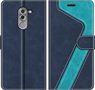 MOBESV Funda para Honor 6X, Funda Libro Honor 6X, Funda Móvil Honor 6X Magnético Carcasa para Honor 6X Funda con Tapa, Azul