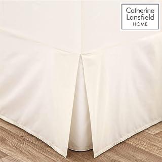 Catherine Lansfield - Faldón para Cama de Matrimonio (percal, no Necesita Lavado), Color Beige