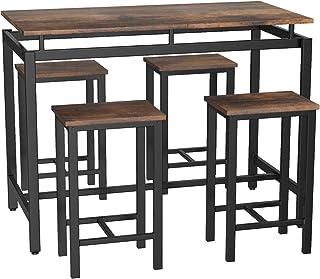 tavolo da bar da pranzo cucina tavolo da cucina 138 x 40 x 120 cm mensola mobile per casa tavolo con 3 ripiani soggiorno Cikonielf