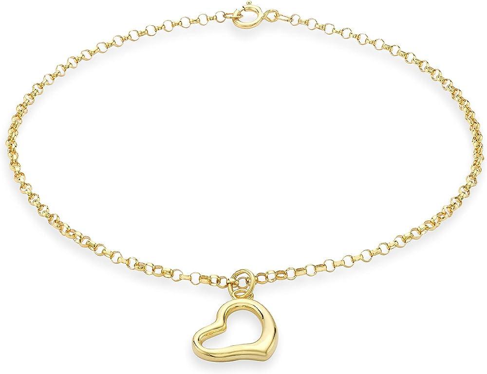 Carissima gold,braccialetto per donna in oro giallo 9ct/375(0,71gr)
