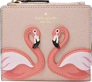 Kate Spade Flamingo By the Pool Small Zip Bifold Wallet