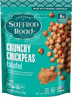 Saffron Road Organic Crunchy Chickpeas, Non-GMO, Gluten-Free, Halal, Falafel, 6 oz