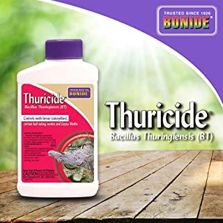 Bonide (BND802) - Leaf Eating Worm & Moth Killer, Thuricide Bacillus Thuringiensis (Bt) Outdoor Insecticide/Pesticide Liquid Concentrate (8 oz.)