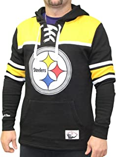 Mitchell & Ness Pittsburgh Steelers NFL Skate Lace Pullover Hooded Sweatshirt