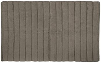 DII Oceanique Machine Washable 100% Cotton Ribbed Woven Luxury Spa Bath Rug, 17 x 24, Cool Brown