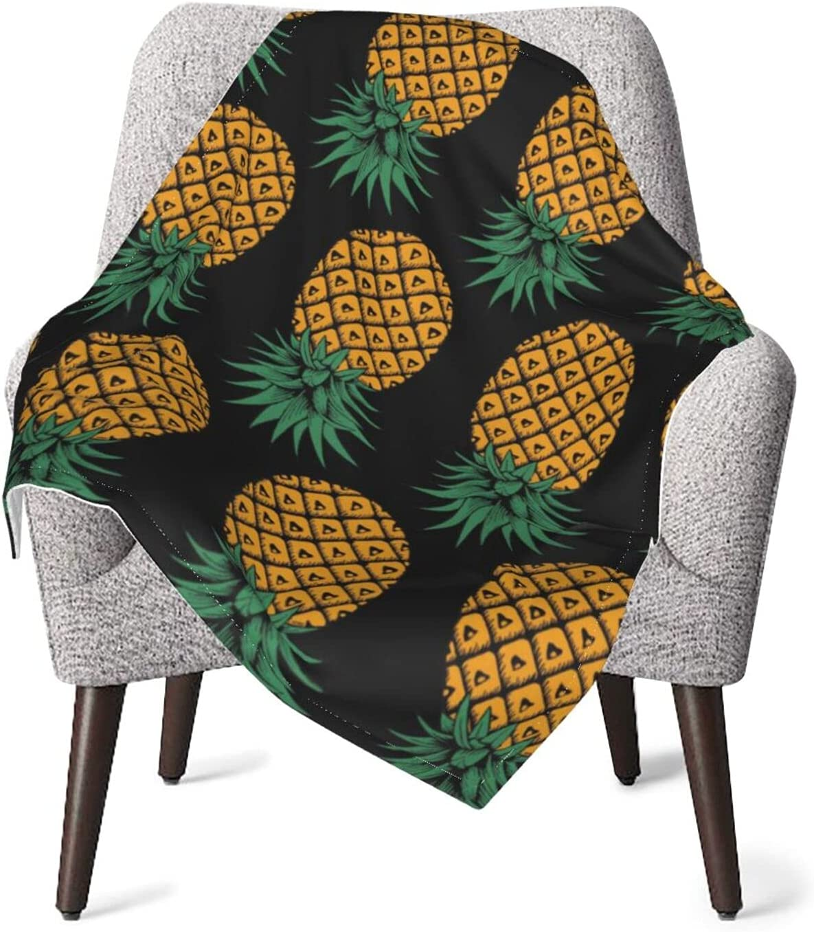 JZDACH Unisex 2021 autumn and winter new Max 72% OFF Baby Receiving Upside Inf Blankets Pineapple Down