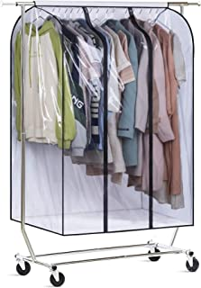 MISSLO Housse de rangement transparente extra large de 127 cm à suspendre pour penderie de vêtements, manteaux, costumes, ...