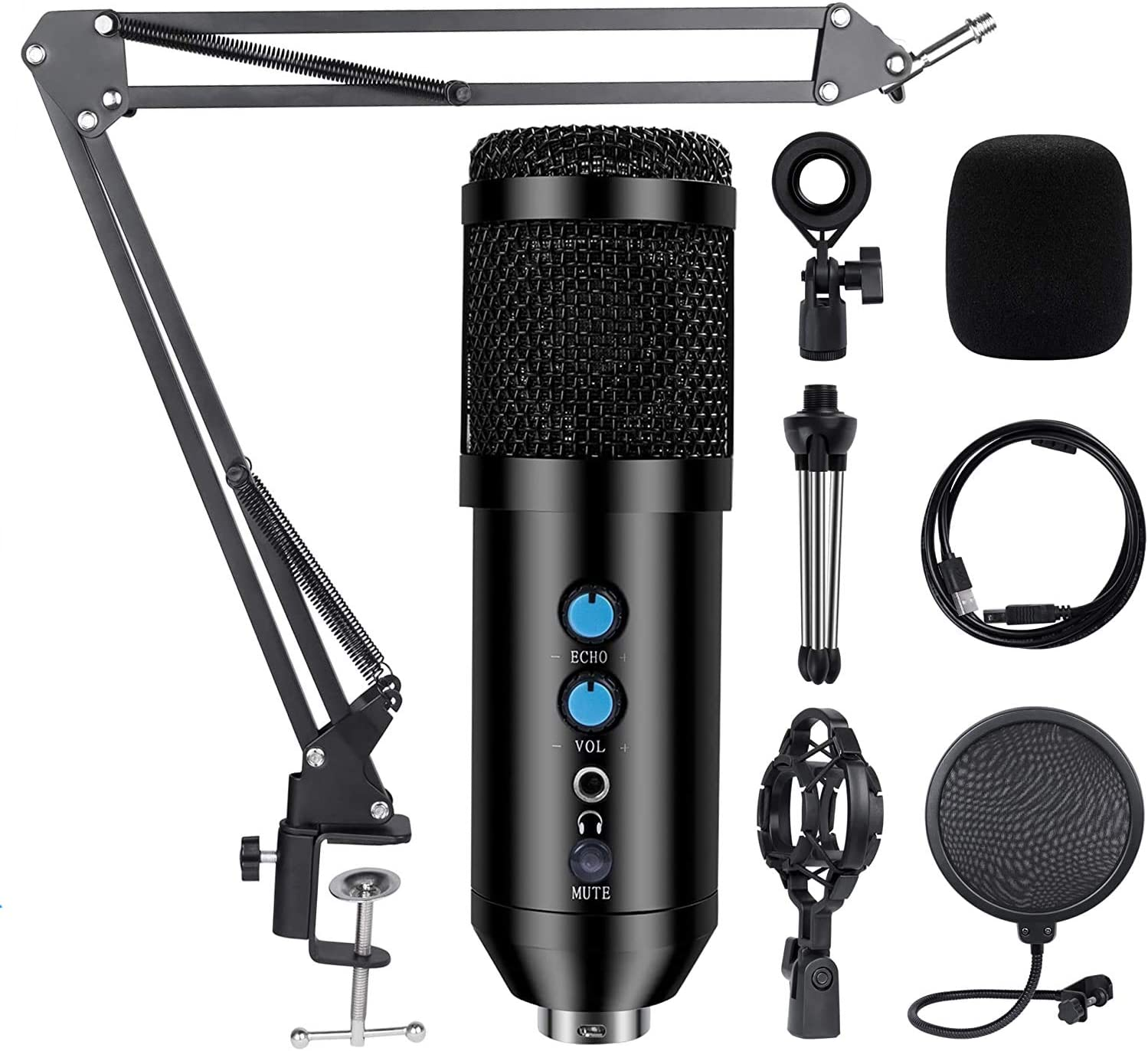 Kalawen USB Condenser Microphone Some reservation for Computer Professional Charlotte Mall K PC